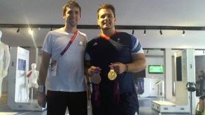 Myself with Aled Davies, Paralympic Gold and Bronze medallist in Discus and Shot Put