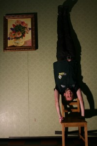 I'm not bad at the old handstand.....