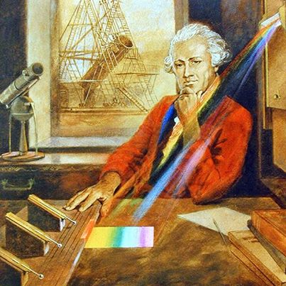 William Herschel carrying out his experiement
