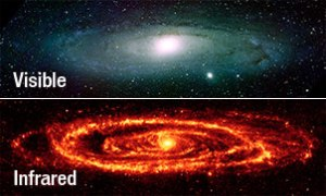 How Infra-red can show more detail of distance galaxies