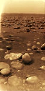 Huygens landing site on Titan