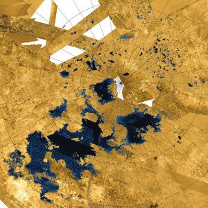 Cassini radar images revealing lakes in North Polar Region of Titan