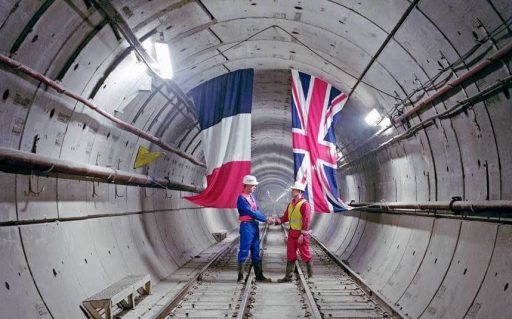 The Channel Tunnel venture from Britain and France